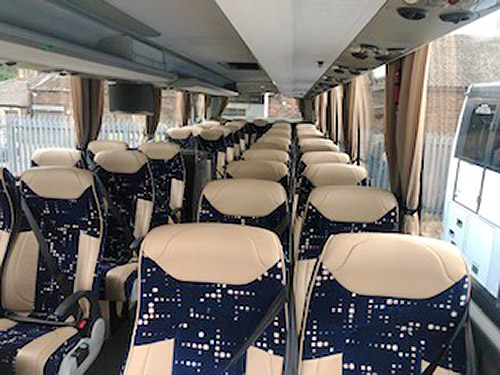 Modern luxury coaches