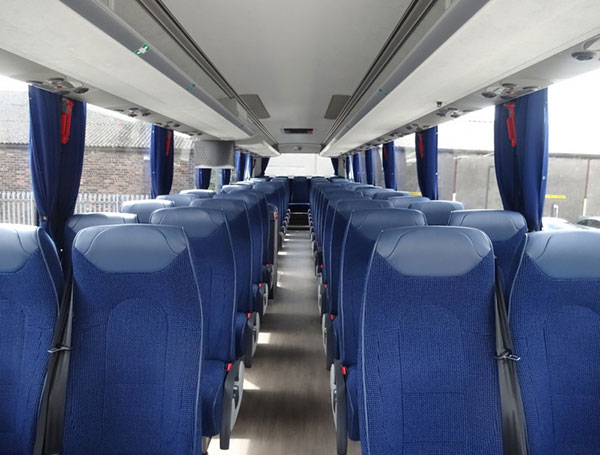 Interior of one of our executive, luxury coaches