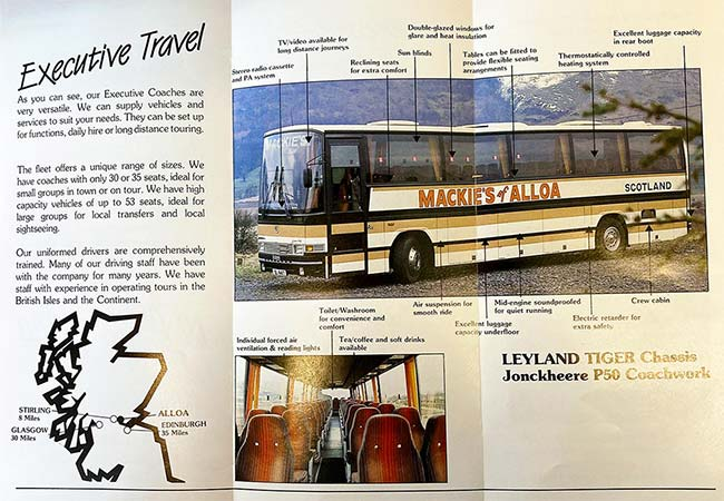 Executive luxury travel brochure