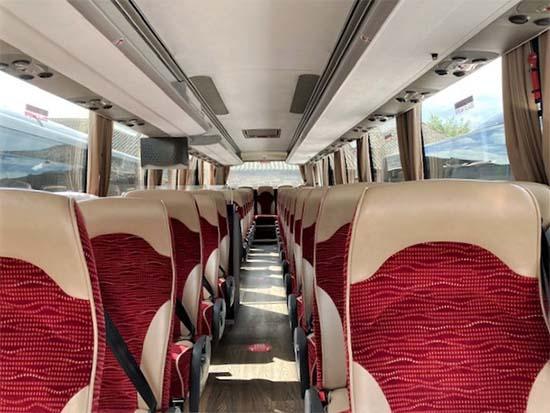 Modern luxury coach interior